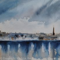 Dumfries from the Nith