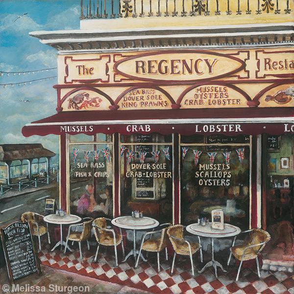 the regency restaurant brighton acrylic on canvas. Black Bedroom Furniture Sets. Home Design Ideas