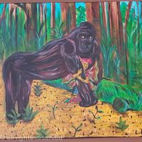 The four seasons: the fairy and her gorilla