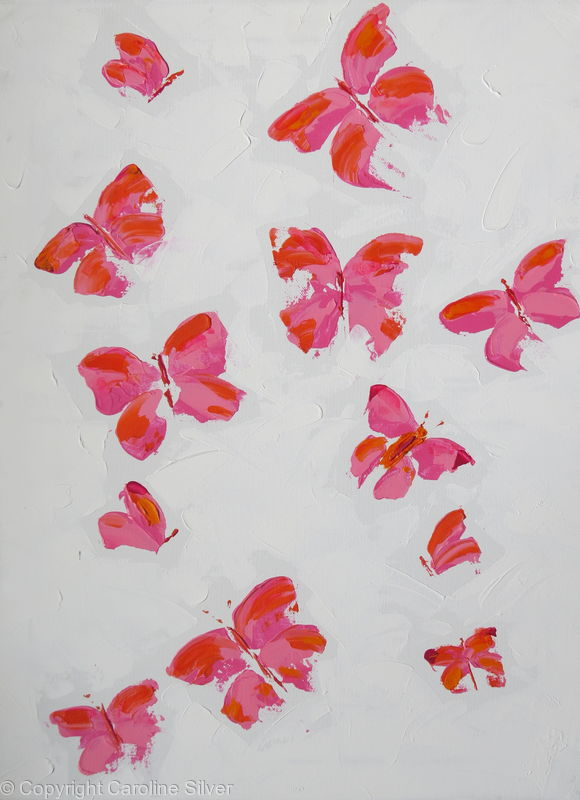 Butterflies on canvas