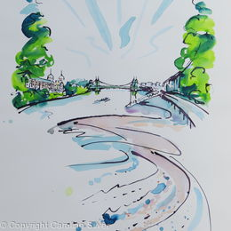 Rowers on the Thames at Hammersmith Bridge I