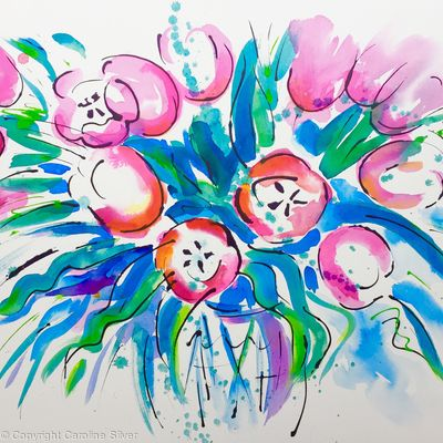 Tulip Riot - Pink (Large Original)