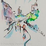 Cycle Race over Putney Bridge