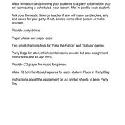 Children's Party Page  2    (an   AS   AQA assignment)