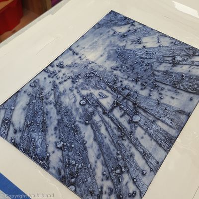 encaustic collograph plate
