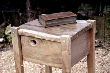 BEDSIDE TABLE ~ English Walnut ~ William Jay