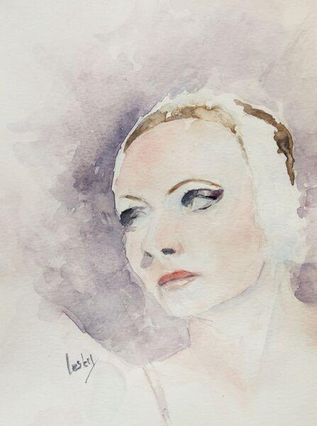 Mysterious Woman - watercolour