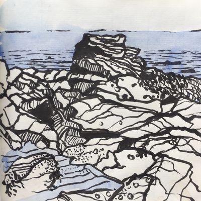 Lower Largo Rocks Sketch 1