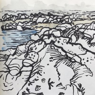 Lower Largo Rocks Sketch 2