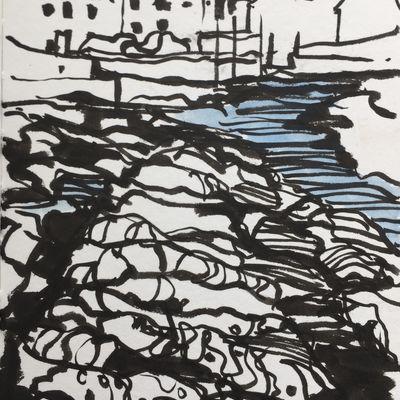 Lower Largo Rocks Sketch 4
