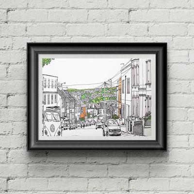 Islingword Road Brighton Print
