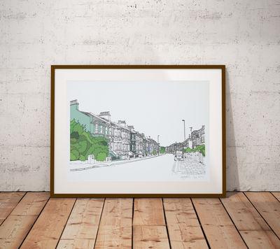 Queen's Park Road Brighton Print