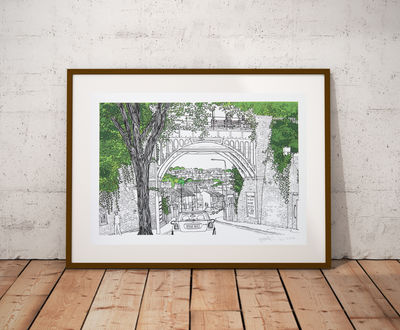 New England Road Bridge Print
