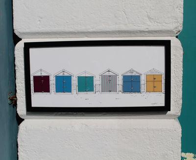 Hove Beach Huts Prints