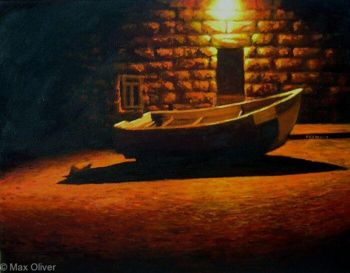 Fishing Boat At Night, Sennen Cove