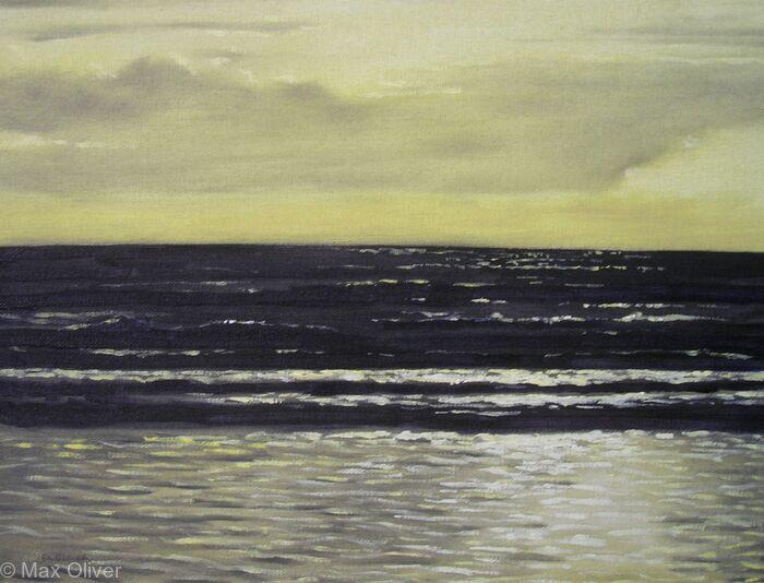 Sunset over Waves, Tregantle