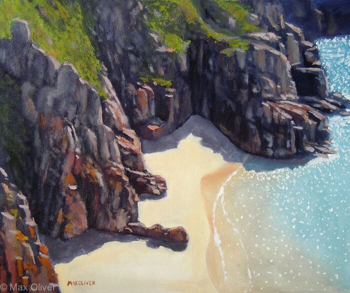 Beach Below Treen Cliff, Cornwall