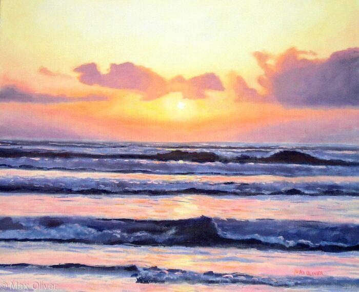 Evening Wave Study, Whitesand Bay