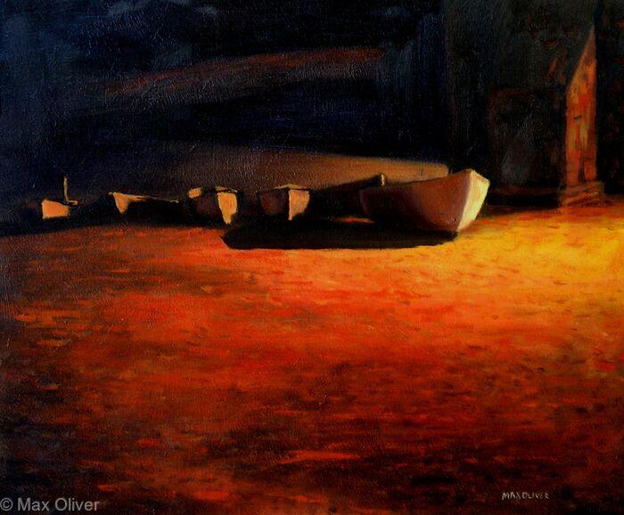 Fishing Boats at Night, Sennen Cove