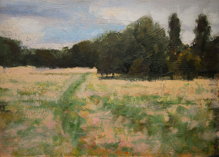 Copse Brockwell Park London Oil On Board