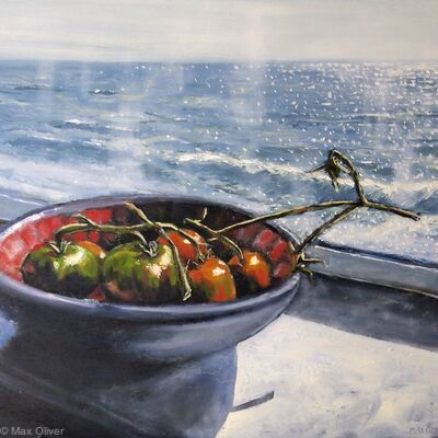 Tomatoes with sea view