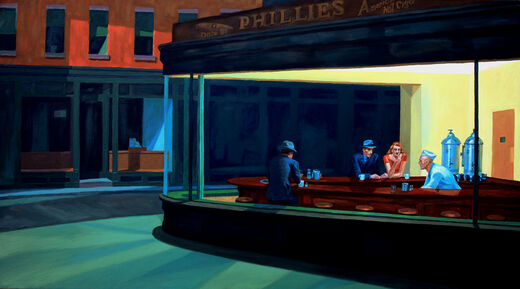 Nighthawks after Hopper