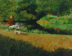 pond fisherman - barcombe mills