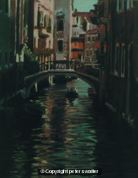 deep cool shadows on venetian canal