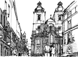 street scene prague