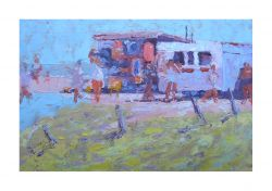 Seafront Stalls - Oils