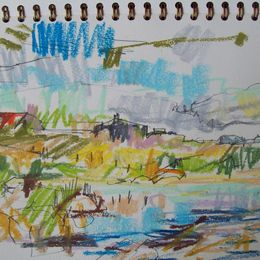 Drawing, The fiddlers house Shawbost