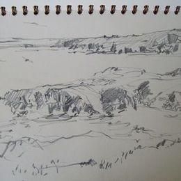 Drawing, Shawbost, shore