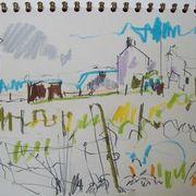 drawing, Seonag's house