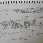 Drawing, Shawbost, shore