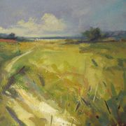 Downland Path, Summer. 30 x 30