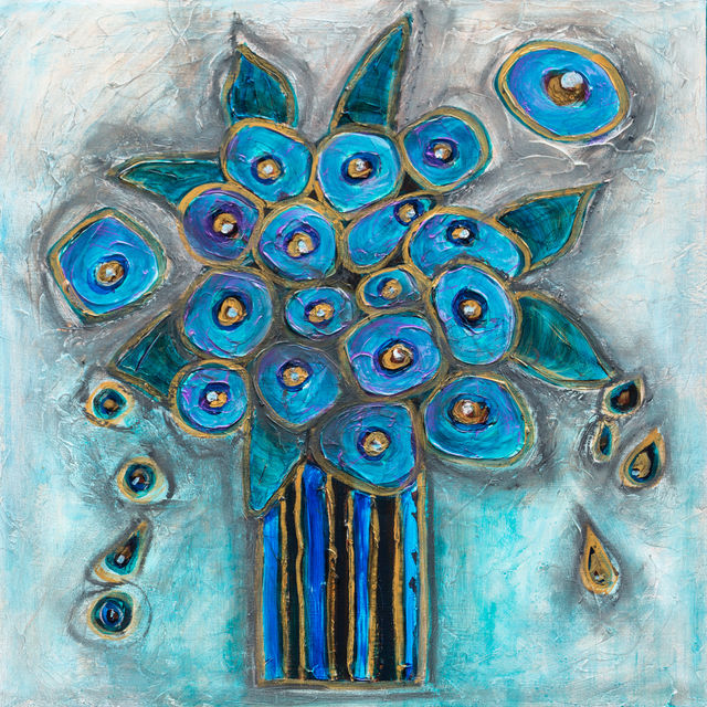 Flora - Bouquet in Blue and Gold