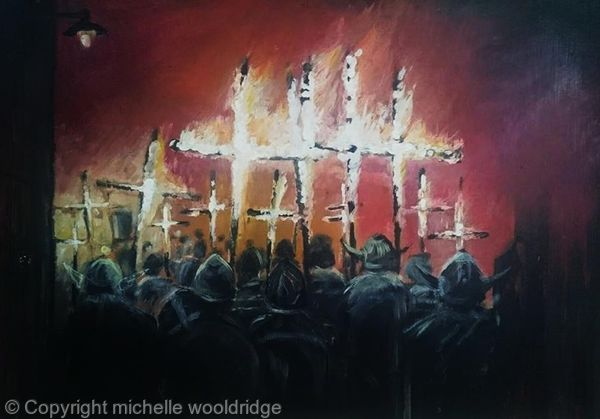 Burning crosses CBS