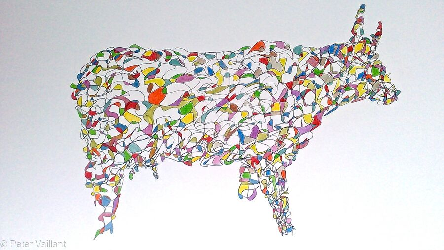 Drawing of Abstract Cow