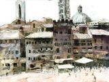 Siena Campo -painting, sold