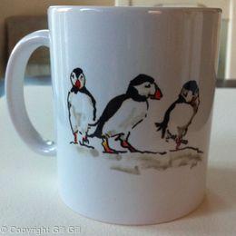 Puffin Mug (back)