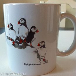 Puffin Mug (front)