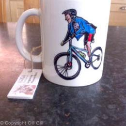 Bike Mug (back)