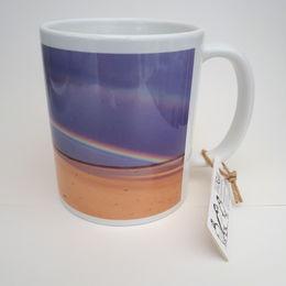 Rainbow Whitburn Beach Mug