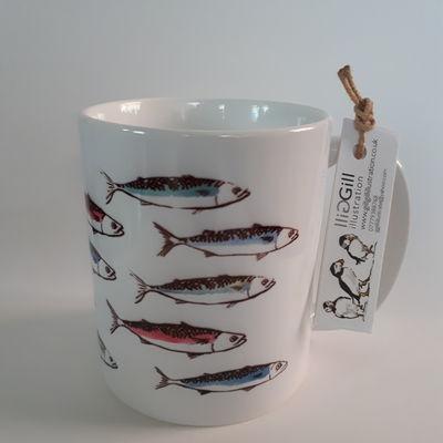 Mackerel Art Mug
