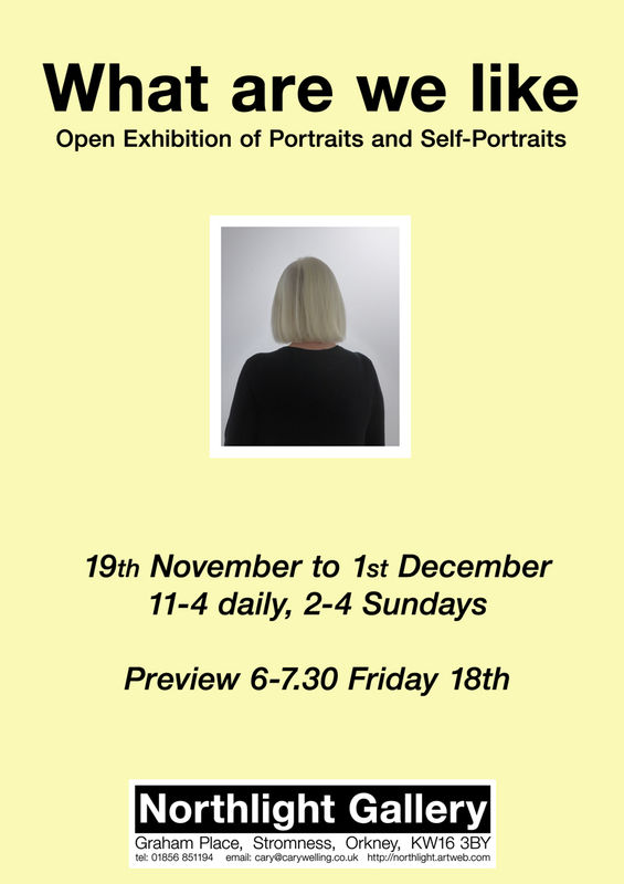 Portraits Exhibition poster