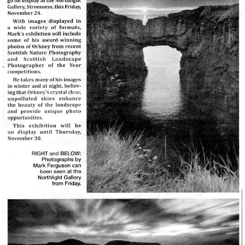 Press release for Orkney Photographs by Mark Ferguson