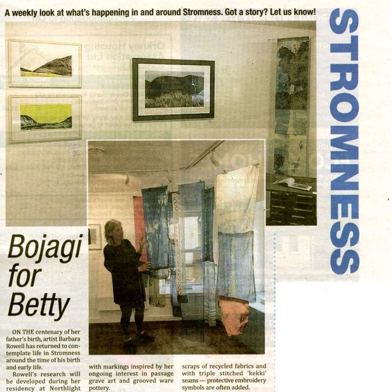 Review of Barbara Rowell's exhibition