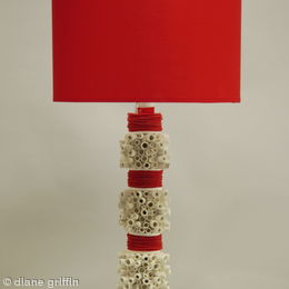 Scrolls Lamp Red