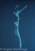 Female Nude 19 DK Blue