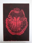 Abstract Orchid 1 - Etching - Red